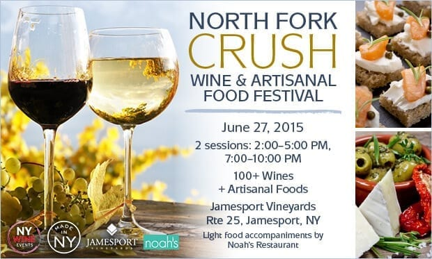 Degustazioni di vini al North Fork Crush Wine & Food Festival