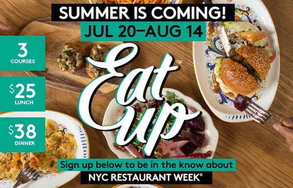 Restaurant Week New York torna l'edizione estiva 2015