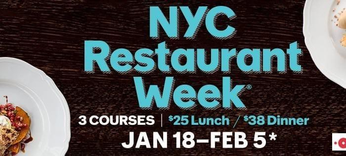 Ritorna il Restaurant Week a New York: Edizione 2016